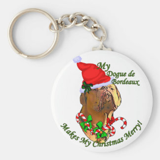 Dogue de Bordeaux Christmas Gifts Keychain