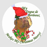 Dogue de Bordeaux Christmas Gifts Stickers