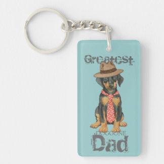Dogue de Bordeaux Dad Double-Sided Rectangular Acrylic Keychain