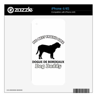 Dogue de Bordeaux Dog Daddy Skin For The iPhone 4S