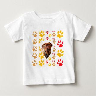 Dogue de Bordeaux Dog Heart Paws Print Shirt