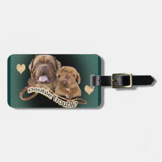 """Dogue De Bordeaux """"Double Trouble"""" apparel & Gifts Bag Tag"""