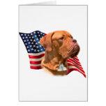 Dogue de Bordeaux Flag Card
