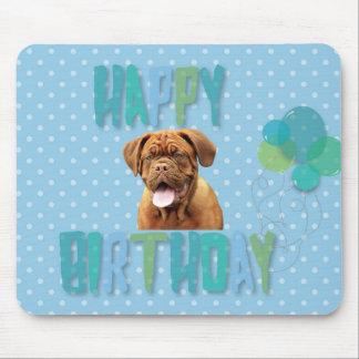 Dogue De Bordeaux French Mastiff Happy Birthday Mouse Pad