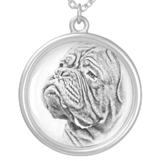 Dogue De Bordeaux - French Mastiff Silver Plated Necklace