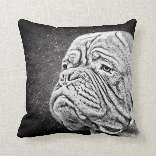 Dogue De Bordeaux - French Mastiff Throw Pillow