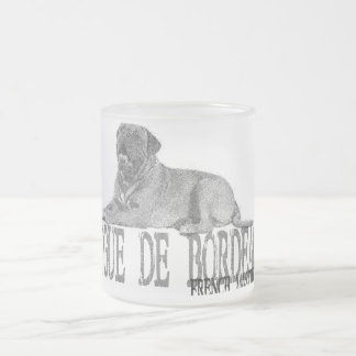 Dogue de Bordeaux Frosted Glass Coffee Mug