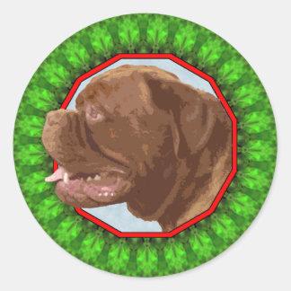 Dogue de Bordeaux Happy Howliday Stickers