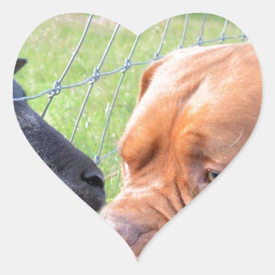 Dogue de Bordeaux Heart Sticker