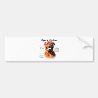 Dogue de Bordeaux History Design Bumper Sticker