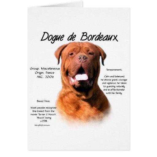 Dogue de Bordeaux History Design Card