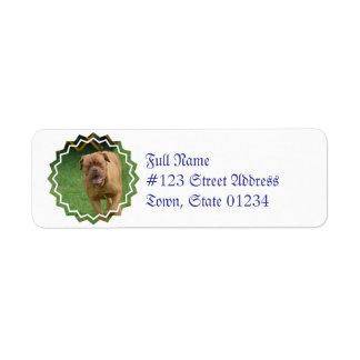 Dogue de Bordeaux Custom Return Address Label