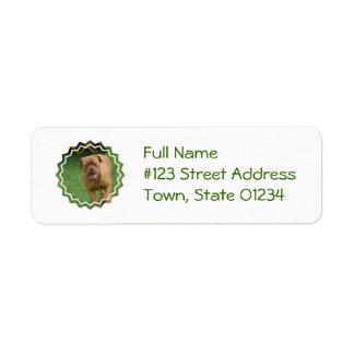 Dogue de Bordeaux Return Address Label