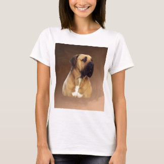 Dogue De Bordeaux Mastiff Dog Portrait Painting T-Shirt