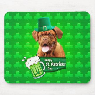 Dogue De Bordeaux Mastiff St. Patrick's Day Mouse Pad