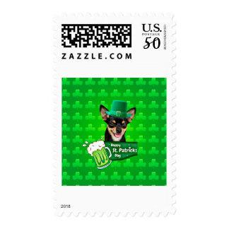 Dogue De Bordeaux Mastiff St. Patrick's Day Postage
