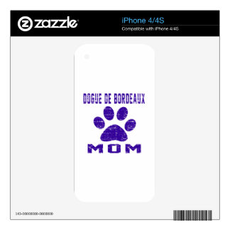 Dogue de Bordeaux Mom Gifts Designs Decal For The iPhone 4S