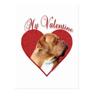 Dogue de Bordeaux My Valentine Postcard