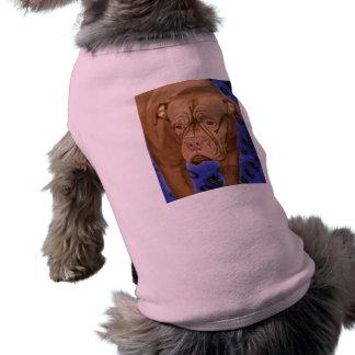 Dogue de Bordeaux on Blue Urban Background T-Shirt