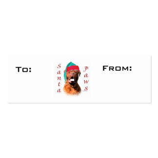 Dogue de Bordeaux Paws Gift Tags Double-Sided Mini Business Cards (Pack Of 20)