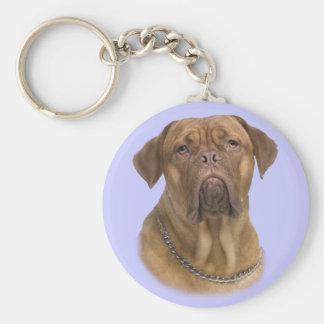 Dogue De Bordeaux Portrait Keychain
