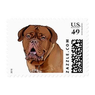 Dogue de Bordeaux postage stamp