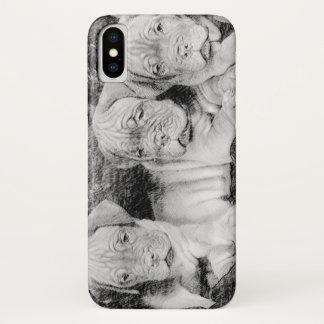 Dogue de Bordeaux puppies iphone X case