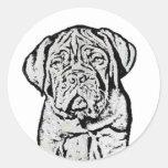 Dogue de Bordeaux puppy stickers