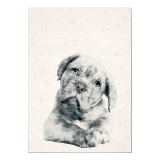 Dogue de Bordeaux Puppy Watercolor 5x7 Print Card