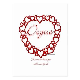 Dogue de Bordeaux True Love Postcard