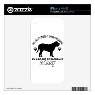 Dogue De Bordeax Dog Daddy iPhone 4 Decal