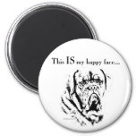 Dogue Happy Face 2 Inch Round Magnet