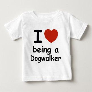 dogwalker dog design baby T-Shirt