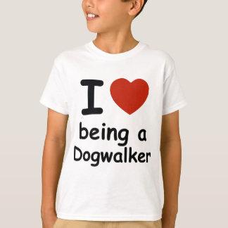 dogwalker dog design T-Shirt