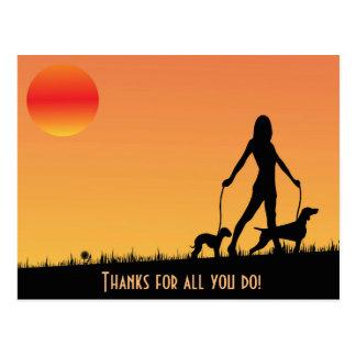 Dogwalker Postcard