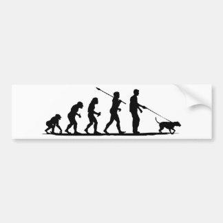 Dogwalking Bumper Sticker