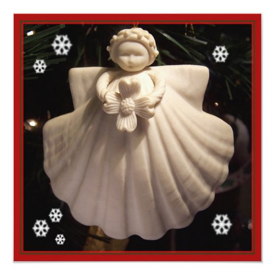 Dogwood Angel Blessings Square Christmas Card