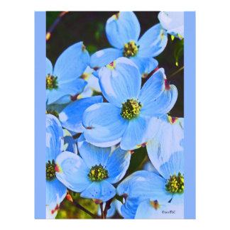 Dogwood azul membrete personalizado