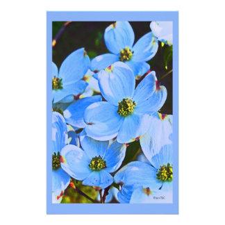 Dogwood azul personalized stationery