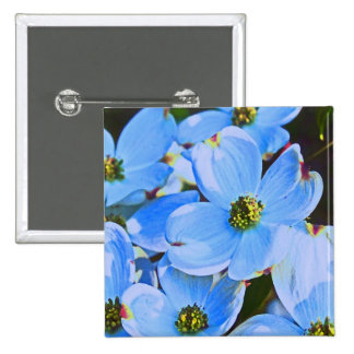 Dogwood azul pin cuadrada 5 cm