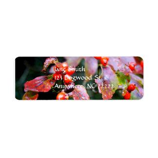 Dogwood Berries Address Label