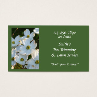 Dogwood blanco (crudo) tarjeta de negocios