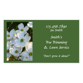 Dogwood blanco (crudo) tarjetas de visita