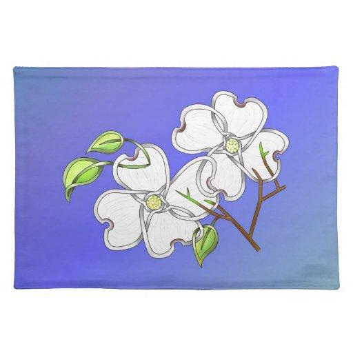 Dogwood blanco manteles