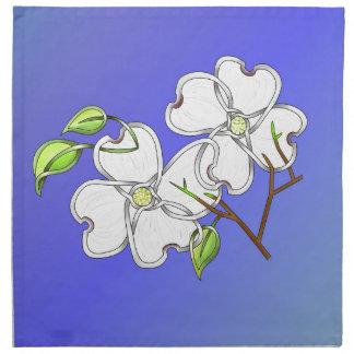 Dogwood blanco servilleta imprimida
