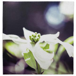 Dogwood blanco servilleta