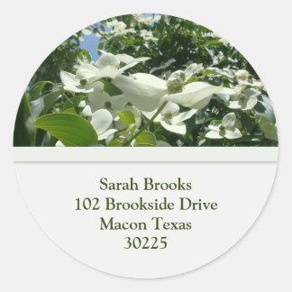 Dogwood Blooms Address Stickers