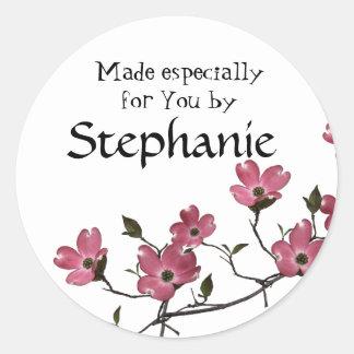 dogwood Blossom Classic Round Sticker