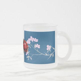 dogwood blossom heart spot ladybugs mugs
