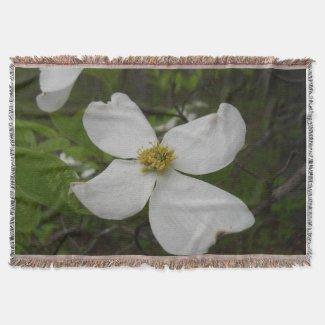 Dogwood Blossom Throw Blanket